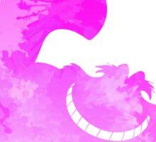 Cheshire Cat inspired silhouette Sticker