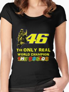 Valentino Rossi 46: The only real 2015 World Champion MotoGp Women's Fitted Scoop T-Shirt