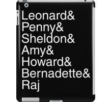 The Big Bang Theory - Names iPad Case/Skin