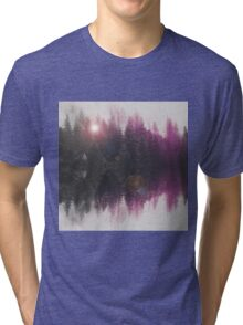 Abstract purple Tri-blend T-Shirt