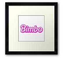 Bimbo Framed Print