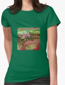 """""""Here Begins The Journey Towards Sky"""" from the series """"In the Lotus Garden"""" Womens Fitted T-Shirt"""