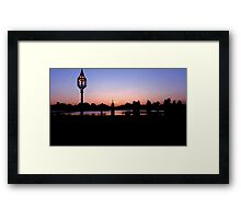 Sunset at Diana Fountain Framed Print