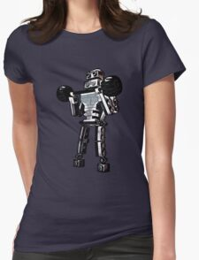 Pumping Iron at Robbie's Gym! Womens Fitted T-Shirt