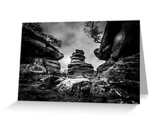 Rocks and Boulders Greeting Card