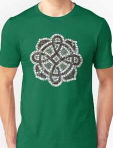 Victorian tile mosaic pattern on green Unisex T-Shirt