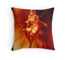 Fall Color Elf Warrior Throw Pillow