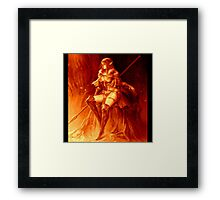 Fall Color Elf Warrior Framed Print