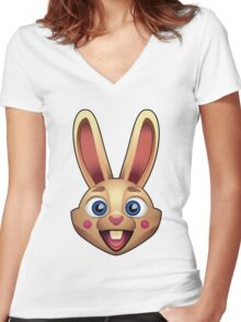Happy Rabbit Women's Fitted V-Neck T-Shirt