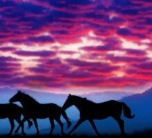 Mustang Run Sticker