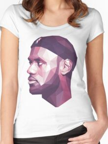 Le Bron James Women's Fitted Scoop T-Shirt