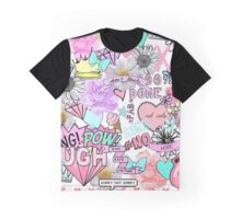 Bubblegum Collage (WIDE) Graphic T-Shirt