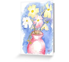 Cosmos in Vase Greeting Card