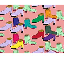 Funny shoe pattern Photographic Print