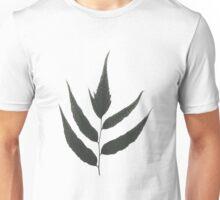 Graphic Grey Leaf Unisex T-Shirt