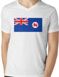 Flag of Tasmania Mens V-Neck T-Shirt