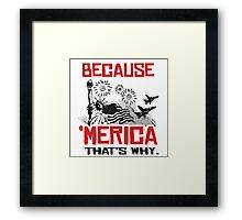 Because 'Merica That's why Framed Print