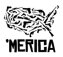 'Merican guns Photographic Print