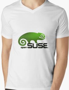 Open SUSE for all Mens V-Neck T-Shirt