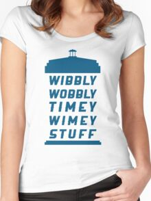 Wibbly Wobbly Timey Wimey Stuff Women's Fitted Scoop T-Shirt