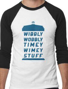 Wibbly Wobbly Timey Wimey Stuff Men's Baseball ¾ T-Shirt