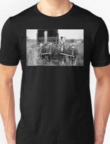Cutting Silage 2 B&W Unisex T-Shirt