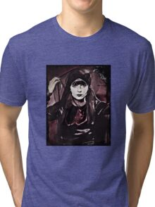 Louise Brooks in Purple Veils Tri-blend T-Shirt