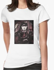 Louise Brooks in Purple Veils Womens Fitted T-Shirt