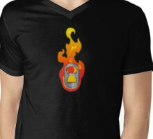 Sparked / The Flame - Pulltab Mens V-Neck T-Shirt