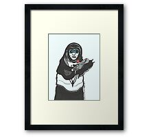 Steampunk Nun Framed Print