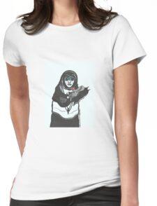Steampunk Nun Womens Fitted T-Shirt