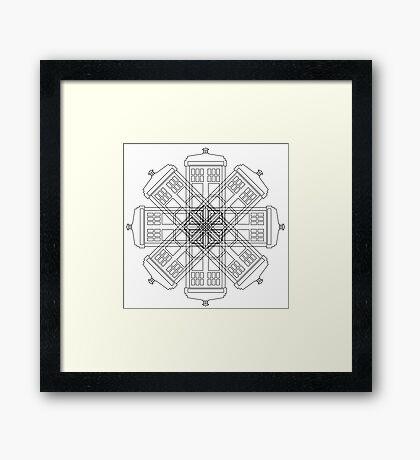 Tardis Flower Framed Print