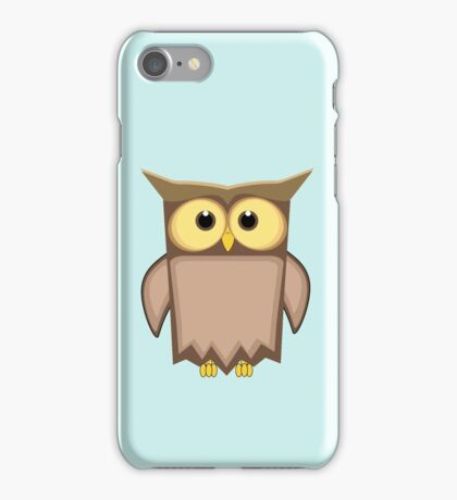 Funny toon owl iPhone Case/Skin
