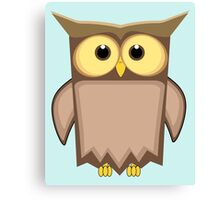 Funny toon owl Canvas Print