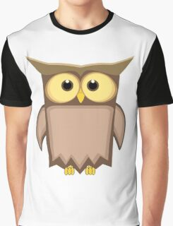 Funny toon owl Graphic T-Shirt
