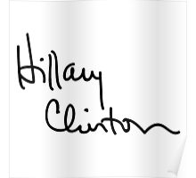 Hillary Clinton Autograph Poster