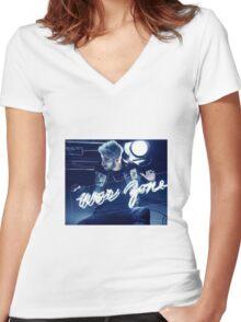 zayn - billboard  Women's Fitted V-Neck T-Shirt
