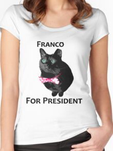 Franco For President Women's Fitted Scoop T-Shirt