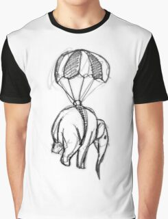 Ross Morgan - Elephant and Parachute Graphic T-Shirt