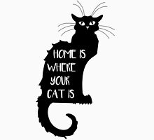 Cat - Home is where your cat is  Womens Fitted T-Shirt