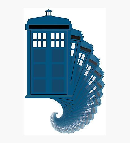 Tardis moving through time Photographic Print