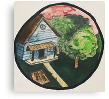 Old Crooked House Canvas Print