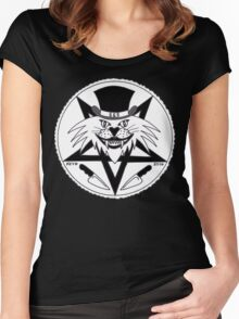 JACK THE RIPPER CULT CAT Women's Fitted Scoop T-Shirt