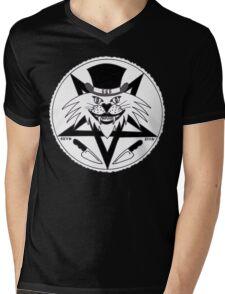 JACK THE RIPPER CULT CAT Mens V-Neck T-Shirt