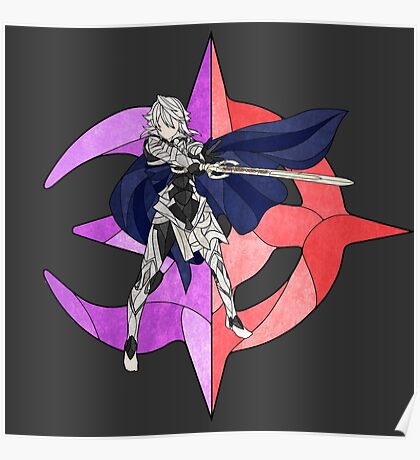 Stained Glass Male Corrin Poster