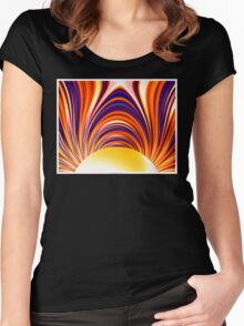 Color and Form Abstract - Solar Gravity and Magnetism 4 Women's Fitted Scoop T-Shirt