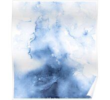 Watercolour Texture Indigo Poster