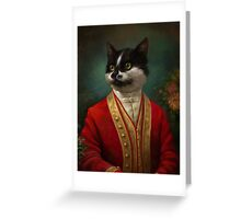 The Hermitage Court Waiter Cat Greeting Card