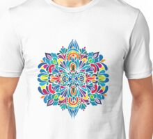 Caribbean inspired  watercolor mandala pattern Unisex T-Shirt