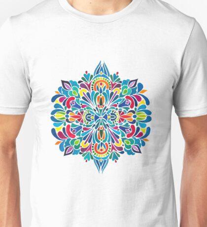 Caribbean inspired  watercolor mandala pattern Unisex T-Shirt